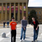 (19) The author (far right) stands outside the Philadelphia Museum of Art.